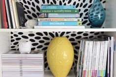 Fabric backed IKEA BIlly Bookcase - Super easy DIY~ FABLE LANE