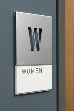 simple, sleek and clean signage environmental design
