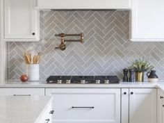 + 47 The Definitive Strategy For Home Kitchens Backsplash 171 Herringbone Backsplash, Herringbone Pattern, Fireclay Tile, Kitchen Trends, Kitchen Updates, Kitchen Backsplash, Backsplash Ideas, Splashback Tiles, Kitchen Cabinets