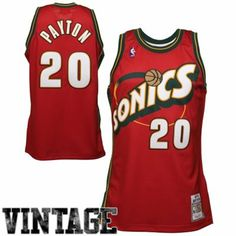 Mitchell   Ness Seattle SuperSonics Gary Payton 1997-98 Authentic Jersey -  Red 2a0a154db