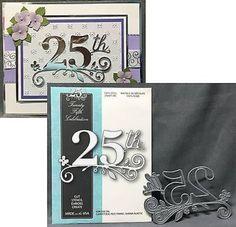 Memory Box cutting Dies Twenty Fifth Celebration 99011 metal die birthday 25th #MemoryBox