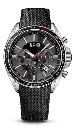 Hugo Boss Men's Chronograph Boss Black Driver Sport Black Leather Strap Watch A masculine timepiece with superb craftsmanship and precision from the Driver Spot collection by Boss Black. From Hugo Boss. Hugo By Hugo Boss, Cheap Watches For Men, Affordable Watches, Fine Watches, Cool Watches, Men's Watches, Black Watches, Hugo Boss Watches, Mens Watch Brands
