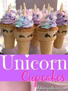 These Unicorn Cupcakes are the perfect addition to any birthday party or just to brighten a special someone's day! You'll have a blast making these after you see how easy they come together!