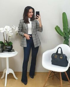 Business Casual Outfits For Women, Office Outfits Women, Business Casual Attire, Professional Outfits, Business Outfits, Indie Outfits, Casual Dress Outfits, Blazer Outfits, Fashion Outfits