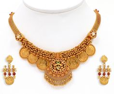 Gold Necklace | Short Kasu Necklace