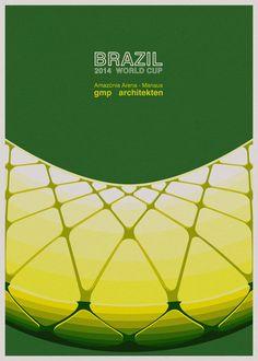 Galeria - Ilustrações dos estádios da Copa no Mundo no Brasil, por André Chiote - 31