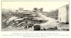 1805 Water and William Streets in New Bedford Williams Street, New Bedford, Cape Verde, Local History, Massachusetts, Old And New, Islands, Corner, Scene