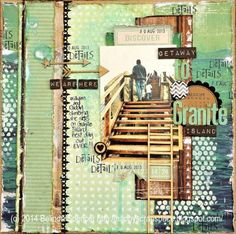 from My Happy Scrap Space Travel Scrapbook, Scrapbook Pages, Tim Holtz Distress Ink, Bingo Cards, Simple Stories, Posca, Coordinating Colors, American Crafts, Card Sketches