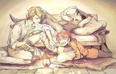 The original trio. Levi, Isabel, and Farlan
