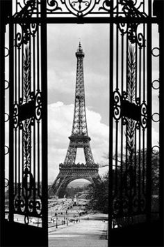 Posters: Paris Poster Photo Wallpaper - View On The Eiffel Tower Through Art Nouveau Gate, 1 Part (69 x 45 inches) by 1art1, http://www.amazon.com/dp/B0058A93GE/ref=cm_sw_r_pi_dp_c8ddrb1YS7AE8
