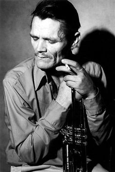 Chet Baker (1929-1988) - American jazz trumpeter, flugelhornist and vocalist. Photo by Bruce Weber