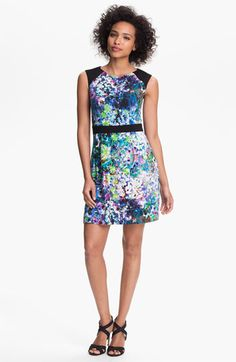 Phoebe Couture Floral Print Sheath Dress available at #Nordstrom