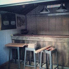 Discover the coolest hangout in the neighborhood with the top 50 best pub shed bar ideas for men. Explore cool backyard bar retreats and designs. Backyard Bar, Backyard Sheds, Outdoor Sheds, Backyard Retreat, Outdoor Bars, Outdoor Spaces, Shed Images, Man Cave Shed, Storage Shed Kits