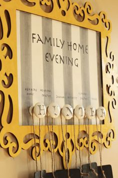 Family Home Evening Assignment Chart | haircut/color was done in exchange for a Family Home Evening chart ...