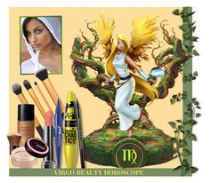 """VIRGO BEAUTY"" by arjanadesign ❤ liked on Polyvore featuring beauty, Revlon, Beauty and makeup"
