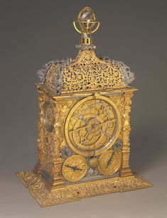Astronomical Clock Unsigned circa 1575; German Gilt brass; 214 x 151 x 323 mm