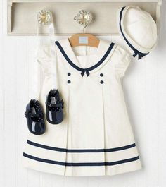 Bergen Taylor Hightower: Nautical Baby - Bergen Taylor Hightower: Nautical Baby The Effective Pictures We Offer You About baddie outfits A - Baby Kind, My Baby Girl, Baby Baby, Little Girl Fashion, Kids Fashion, Toddler Outfits, Girl Outfits, Sailor Dress, Little Girl Dresses