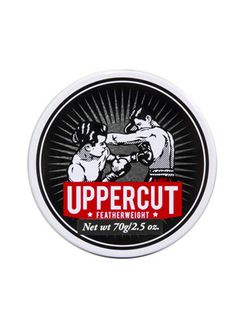 Uppercut Featherweight Wax, don't be folled by the name, just because the wax is light doesn't mean it can't pack a punch! Featherweight had plenty of tack and dry finish for a natural looking hold!