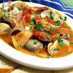Portugiesische Paprikawurst und Venusmuscheln @ de.allrecipes.com