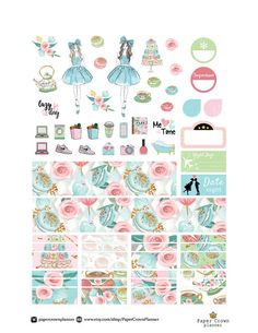 50% OFF SALE / TEA Time Weekly Kit/Printable от PaperCrownPlanner