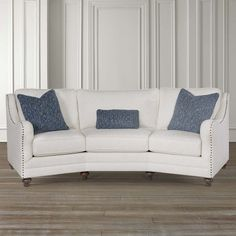 Bassett 2612-92 Marseille Conversation Sofa available at Hickory Park Furniture Galleries