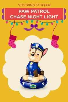 How cute is this PAW Patrol Chase night light?!