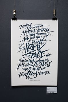 I Believe in Space exhibition - Jess Wong — Typography / Lettering / Design