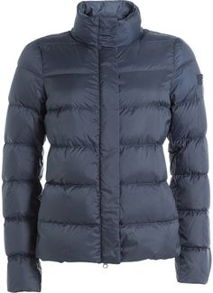 Peuterey Quilted Down Jacket In Blue Women's Puffer, Wardrobe Staples, Snug, Winter Jackets, Just For You, Stylish, Fabric, Shopping, Clothes
