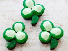 St. Patrick's Day Green Velvet Cupcake Shamrocks Recipe : Food Network Kitchen : Food Network - FoodNetwork.com