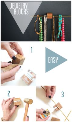 Simple and elegant jewelry display/storage DIY from my FAVORITE stylist, Emily Henderson.