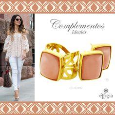 Luce hermosa en tus atuendos con este juego de oro amarillo de 18k con Cuarzo Rosa. ¡Ideal para ti! #Outfit #Rosa #Joyas #Oro