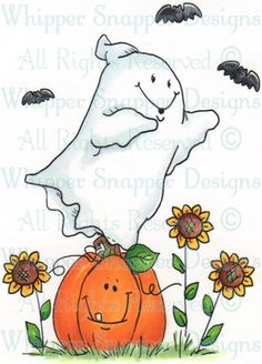 Whipper Snapper Designs is an expansive online store selling a large variety of unique rubber stamp designs. Halloween Rocks, Halloween Doodle, Halloween Clipart, Halloween Painting, Halloween Drawings, Halloween Images, Cute Halloween, Halloween Wallpaper, Watercolor Cards