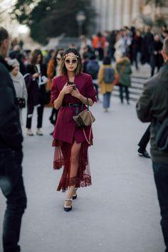 cd4962a0eb5df Paris Fashion Week AW18 street style Paris Outfits