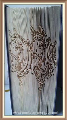 Cart Horses Cut and Fold Book Folding Pattern by JHBookFoldPatterns on Etsy