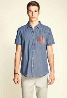 Chambray Pocket Shirt | 21 MEN #21Men