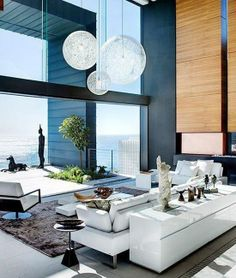 An luxurious space with an ocean view.