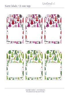 Kerst labels - Lintland, gratis afdrukken / printen. X-mas tags / christmas tags free printable - freebies www.lintland.nl Babyshower, Free Printables, Clip Art, Holidays, Tags, Prints, Christmas, Gift, Xmas