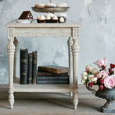 Eloquence Claude Stone Side Table @LaylaGrayce