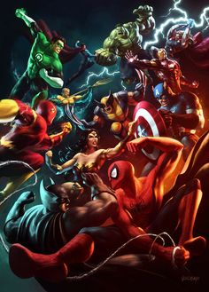 JLA vs The Avengers Marvel vs DC