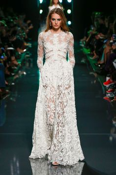 Elie Saab at Paris Fashion Week Spring 2015.