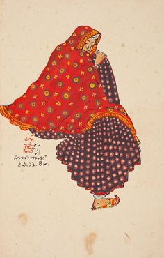 Indra Dugar's paintings of the 1940s-the colours and costumes suggest Rajasthan/Gujarat.