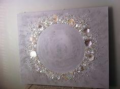 NR 1 * (op bestelling) Schilderij leemkleur schelpen