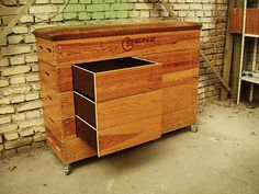 "Drawers added to this classic sports-box make it a great furniture. German engineering by ""Zur schönen Linde"""