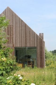 Julius Taminiau Architects has rebuilt a former cowshed to create The Potato Shed, a house clad in thin timber slats that conceal double-layered openings. Timber Slats, Timber Cladding, Architecture Renovation, Architecture Design, Chinese Architecture, Ancient Architecture, Landscape Architecture, Shed Homes, House Built
