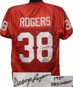 dd162d1ed7e George Rogers Autographed Hand Signed South Carolina Gamecocks Red Custom  Jersey 1980 Heisman- JSA