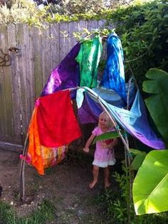 willow fort with scarves