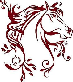 Horse Flowers Tribal Rodeo Cowgirl Western Car Truck Window Vinyl Decal Sticker
