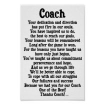 Shop Coach Thank You Poster created by nikiclix. Football Coach Quotes, Thank You Poster, Gymnastics Coaching, Custom Posters, Custom Framing, Favorite Quotes, Coloring Books, Reflection, Print Design