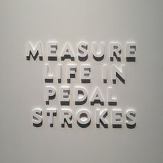 Measure life in pedal strokes - this is from what we captured at #Interbike show…