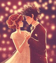 """""""Lily and James Potter.""""We'll find a way to offer up the night tonightThe … """"Lily y James Potter. Lily Potter, James Potter, Harry Potter Fan Art, Harry Potter World, Blaise Harry Potter, Magia Harry Potter, Fans D'harry Potter, Harry Potter Comics, Mundo Harry Potter"""